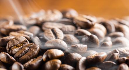 coffee beans with smoke- Stock Photo or Stock Video of rcfotostock | RC-Photo-Stock