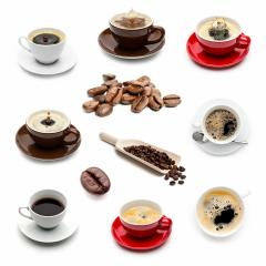 Coffee cup and coffee beans set collage- Stock Photo or Stock Video of rcfotostock | RC-Photo-Stock