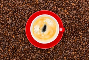coffee cup on brown beans- Stock Photo or Stock Video of rcfotostock   RC-Photo-Stock