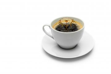 coffee cup with drop splash- Stock Photo or Stock Video of rcfotostock | RC-Photo-Stock