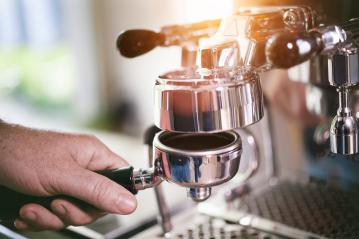 Coffee Filter holder preparation for fresh espresso : Stock Photo or Stock Video Download rcfotostock photos, images and assets rcfotostock | RC-Photo-Stock.:
