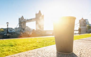 Coffee to go near the Tower Bridge in London, uk, Lifestyle concept.- Stock Photo or Stock Video of rcfotostock | RC-Photo-Stock