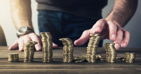 Coins stacked on each other - Money concept- Stock Photo or Stock Video of rcfotostock | RC-Photo-Stock