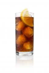 cold cola in a glass with dew drops and lemon slice - Stock Photo or Stock Video of rcfotostock | RC-Photo-Stock