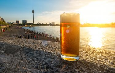 cold fresh dusseldorfer old beer (Altbier) at summer sunset- Stock Photo or Stock Video of rcfotostock | RC-Photo-Stock