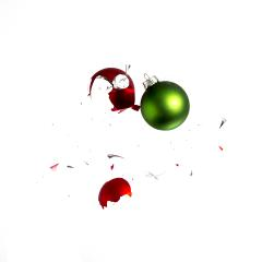 colliding christmas balls- Stock Photo or Stock Video of rcfotostock | RC-Photo-Stock