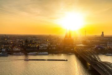 Cologne aerial view with cathedral- Stock Photo or Stock Video of rcfotostock | RC-Photo-Stock