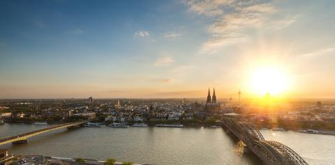 Cologne and the Cologne cathedral at sunset- Stock Photo or Stock Video of rcfotostock | RC-Photo-Stock
