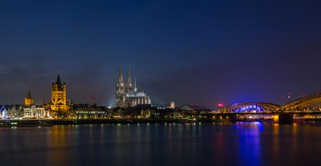 Cologne at night city panorama- Stock Photo or Stock Video of rcfotostock | RC-Photo-Stock