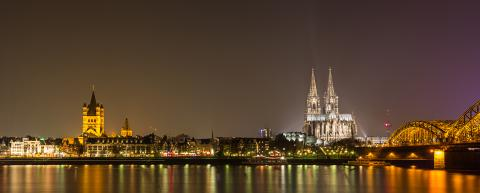 Cologne at night panoramic view- Stock Photo or Stock Video of rcfotostock | RC-Photo-Stock