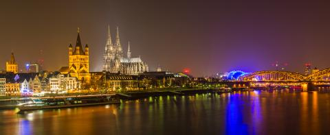 Cologne at night with Cathedral - Stock Photo or Stock Video of rcfotostock | RC-Photo-Stock