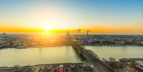 Cologne at sunset - Stock Photo or Stock Video of rcfotostock | RC-Photo-Stock
