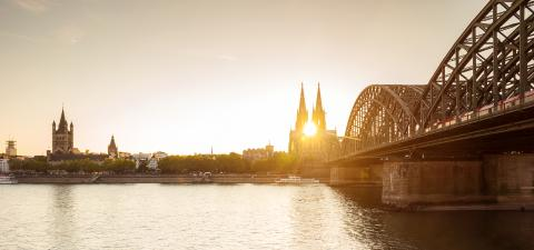 Cologne at sunset- Stock Photo or Stock Video of rcfotostock | RC-Photo-Stock