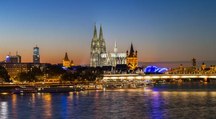 Cologne at sunset panorama- Stock Photo or Stock Video of rcfotostock | RC-Photo-Stock