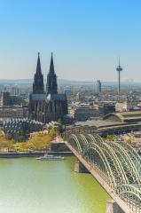 cologne cathedral aerial view at summer- Stock Photo or Stock Video of rcfotostock | RC-Photo-Stock