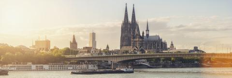 Cologne Cathedral along river rhine Germany- Stock Photo or Stock Video of rcfotostock | RC-Photo-Stock