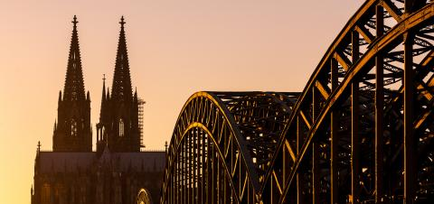 Cologne Cathedral and Hohenzollern Bridge- Stock Photo or Stock Video of rcfotostock | RC-Photo-Stock