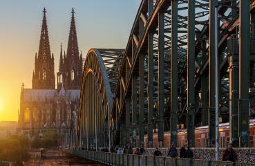 Cologne Cathedral and Hohenzollern Bridge : Stock Photo or Stock Video Download rcfotostock photos, images and assets rcfotostock | RC-Photo-Stock.: