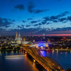 Cologne Cathedral and Hohenzollern bridge at night- Stock Photo or Stock Video of rcfotostock | RC-Photo-Stock