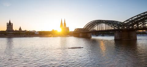 Cologne Cathedral and Hohenzollern Bridge at sunset - Stock Photo or Stock Video of rcfotostock | RC-Photo-Stock