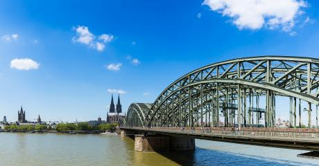 Cologne cathedral and Hohenzollern bridge panorama- Stock Photo or Stock Video of rcfotostock   RC-Photo-Stock