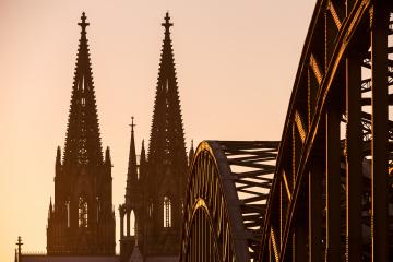 Cologne Cathedral and Hohenzollern Bridge silhouette- Stock Photo or Stock Video of rcfotostock   RC-Photo-Stock