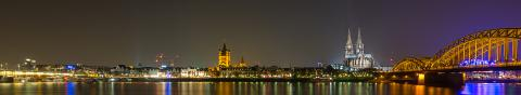 Cologne Cathedral and Night City Skyline- Stock Photo or Stock Video of rcfotostock | RC-Photo-Stock