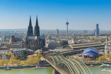 Cologne Cathedral and river Rhine- Stock Photo or Stock Video of rcfotostock | RC-Photo-Stock