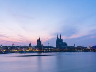 Cologne Cathedral at dusk - Stock Photo or Stock Video of rcfotostock | RC-Photo-Stock