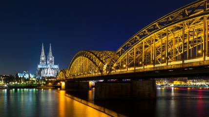 Cologne Cathedral at night- Stock Photo or Stock Video of rcfotostock | RC-Photo-Stock