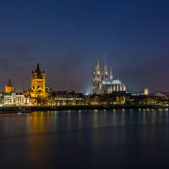 cologne cathedral at night in germany- Stock Photo or Stock Video of rcfotostock | RC-Photo-Stock