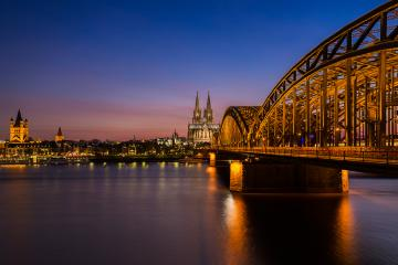 Cologne cathedral at sunset - Stock Photo or Stock Video of rcfotostock | RC-Photo-Stock