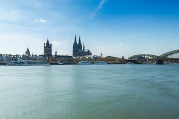 Cologne cathedral at the rhine river : Stock Photo or Stock Video Download rcfotostock photos, images and assets rcfotostock | RC-Photo-Stock.: