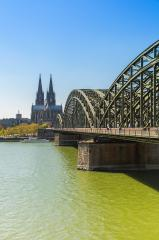Cologne Cathedral at the rhine river in spring- Stock Photo or Stock Video of rcfotostock   RC-Photo-Stock