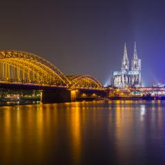 Cologne Cathedral (Dom) at night in germany europe- Stock Photo or Stock Video of rcfotostock | RC-Photo-Stock