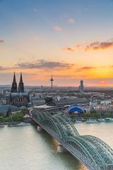 Cologne Cathedral in Cologne at sunset- Stock Photo or Stock Video of rcfotostock | RC-Photo-Stock