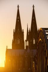 Cologne Cathedral silhouette at sunset- Stock Photo or Stock Video of rcfotostock   RC-Photo-Stock