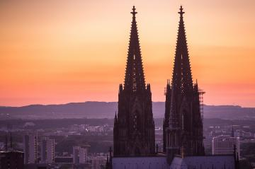 cologne cathedral tops at sunset- Stock Photo or Stock Video of rcfotostock | RC-Photo-Stock