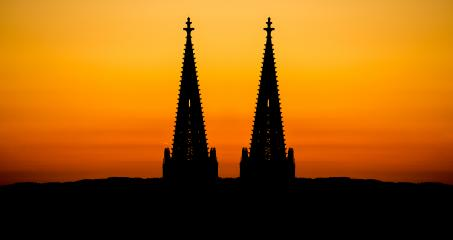 Cologne Cathedral tops silhouette- Stock Photo or Stock Video of rcfotostock | RC-Photo-Stock