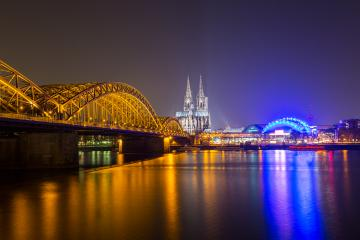 cologne cathedral with Hohenzollern bridge- Stock Photo or Stock Video of rcfotostock | RC-Photo-Stock