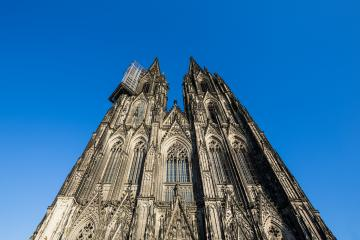 cologne cathedral with scaffolding- Stock Photo or Stock Video of rcfotostock | RC-Photo-Stock