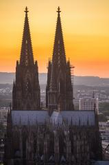 Cologne Cathedral (World Heritage) at sunset- Stock Photo or Stock Video of rcfotostock | RC-Photo-Stock