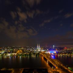 Cologne city at night- Stock Photo or Stock Video of rcfotostock | RC-Photo-Stock
