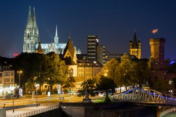 Cologne city at night- Stock Photo or Stock Video of rcfotostock   RC-Photo-Stock
