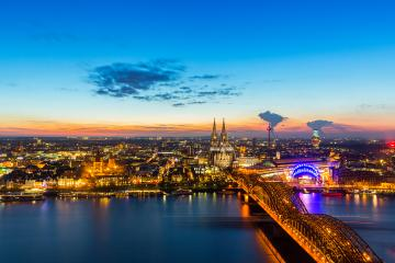Cologne city at night with cathedral- Stock Photo or Stock Video of rcfotostock | RC-Photo-Stock