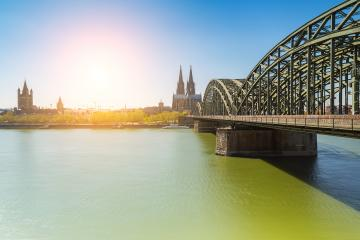 Cologne city at summer with cathedral and Hohenzollern bridge- Stock Photo or Stock Video of rcfotostock | RC-Photo-Stock