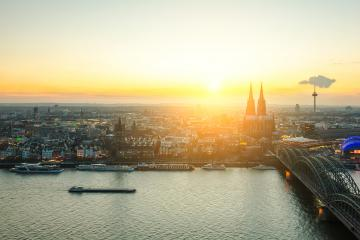 Cologne city at sunrise- Stock Photo or Stock Video of rcfotostock | RC-Photo-Stock