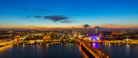 Cologne city at sunset- Stock Photo or Stock Video of rcfotostock | RC-Photo-Stock