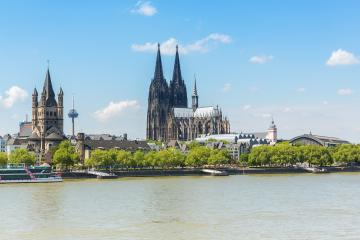cologne city at the rhine river- Stock Photo or Stock Video of rcfotostock | RC-Photo-Stock
