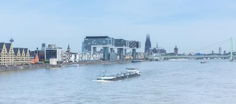 cologne city at the rhineau harbour- Stock Photo or Stock Video of rcfotostock | RC-Photo-Stock